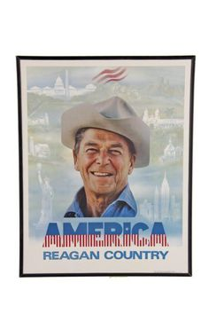 America Reagan Country Poster