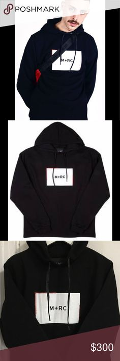 Marc Noir Box Logo Hoodie Paris Popular High Street Brand, Marc Noir Hoodie, Sold Out, Limited Item, Worn Once, Please feel free to ask me if you are interested in purchasing, I won't sell my item have no manners buyer, Thank you! 🙏 VLONE Shirts Sweatshirts & Hoodies