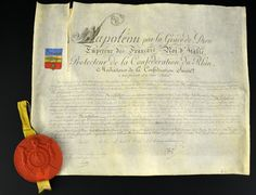 Lettres-patentes de chevalier de l'adjudant Jean Monfalcon