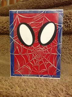 'rosie dog's plain red & blue Spiderman card on Splitcoaststampers was my inspiration (2003? before SU came out with the Spider Web embossing folder) 'D