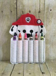 Pata soporte de lápices de colores de patrulla