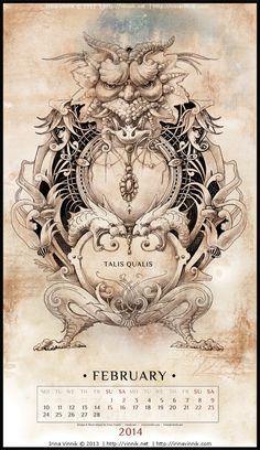 Bestiarium (Calendar 2014) on Behance