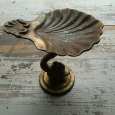 Antique French Brass Soap Dish + Shell Shape + Free Shipping on Etsy, $37.45