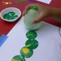 Image Source: ncodistrict Do you need an idea of a painting activity that you can do with your kids? If your answer is yes then this balloon stamp painting
