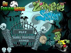 Un joven Zombies después de muerto no quiere dejar el fútbol y sigue practicando con los tiros, ayudarlo a meter todas esas cabezas de esqueleto como balón en la portería, calcula la dirección del tiro para meter goooooles.