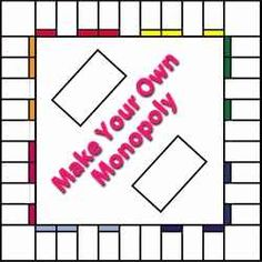 custom monopoly board template - free printable blank board game template 6 501 auction