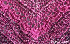 Ana Lucia Shawl - close up of beautiful details - free crochet shawl pattern