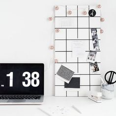 Hang up notes, photos, or anything else that will help your work space get organized with this easy and simple memo board!