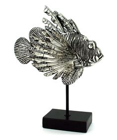 Look at this Silver-Plated Lionfish Décor on #zulily today!