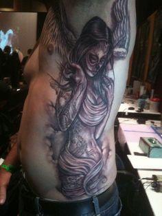 Fallen Angel Tattoo by Big Gus by Sullen Till Death,