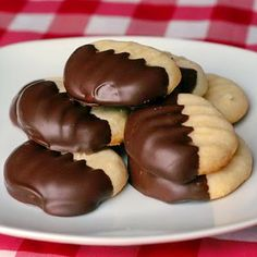 The lightest shortbread cookies dipped in chocolate. They literally melt in your mouth!