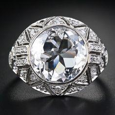 Fine 3.73 Carat (E VS2) Edwardian Diamond Ring