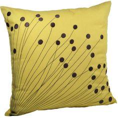 Pillow Cover, Decorative Pillow, Throw Pillow, Couch Pillow, Yellow Linen Pillow Dark Brown Flower E Sewing Pillows, Diy Pillows, Linen Pillows, Couch Pillows, Accent Pillows, Couch Set, Sofa Throw, Handmade Pillow Covers, Decorative Pillow Covers