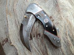 Hand Made Damascus Folding Knives