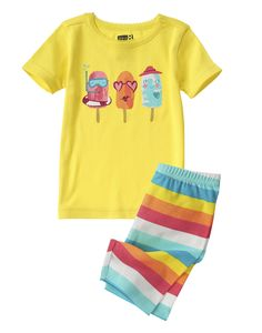 Popsicle Two-Piece Shortie Pajama Set at Crazy 8