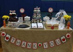 teacher appreciation dessert spread