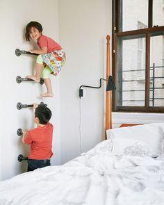 fantastische Idee Kinderzimmer mit Wandleiter