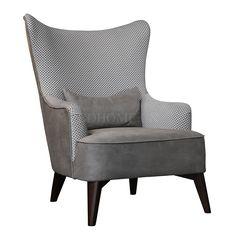 休闲椅 进口美国花旗松木框架+布艺软包 KY2131 W800*D920*H1040 mm