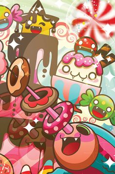 Life is a jorney, Make it a sweet one. by Caramelaw a.k.a Sheena Aw, via Behance.  so dam cute!