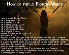 All the witches in my family always had a bottle of Florida water.