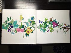First full page finished! #magicaljungle #magicaljunglecoloringbook…