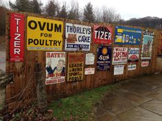 Tin signs at Beamish Museum of the North, County Durham, UK