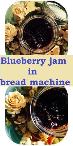 Frozen blueberry jam in bread machine - sourdoughmovement.com