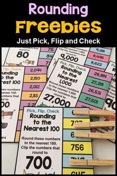Rounding Flip Card FREEBIES