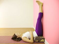 Legs up the Wall Pose: Viparita KaraniBenefitsLegs up the Wall Pose is a restorative, relaxing and gentle inversion that has manybenefits:  ...