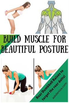 The rear delts are a small muscle group but crucial to prevent shoulder injuries and help you keep good posture. Try this exercise to build a strong back! http://askdeniza.com/exercise-of-the-week-rear-dumbbell-raises/ #exercise #fitness #workout #health #training #shoulders #muscle #weightloss