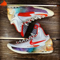 best service a4776 e244f Nike KD V Galaxy Big Bang On Shoes, Nike Shoes, Star Shoes, Sneakers