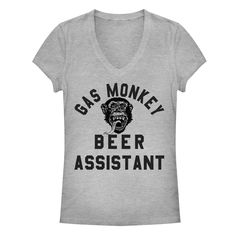 Women's Gas Monkey Garage T- Shirt. Beer Assistant.