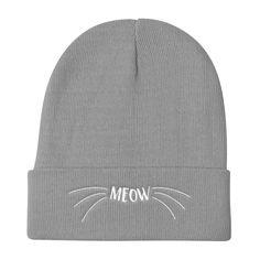 Wordy Cat 'Meow' Knit Beanie