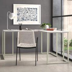 USA | Modern Furniture | AllModern $$ Commercial Office Furniture, L Shaped Desk, Desk Size, Cheap Office Furniture, Furniture, Furniture Layout, L Shaped Executive Desk, Home Decor, Contemporary Desk