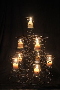 Upcycled Bed Spring Candle Tree by 1LeftofCenter on Etsy, $40.00
