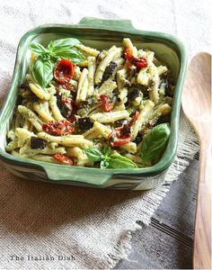 Casarecce Pasta with Pesto, Eggplant and Slow Roasted Tomatoes (and a Barilla Pasta Giveaway!)