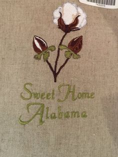 "Cotton Boll ""Sweet Home Alabama"" Towel"