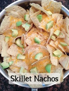 These skillet nachos recipe make an amazing dinner meal for fall. It's a quick and easy one dish meal that the whole family will enjoy. Get the recipe today!