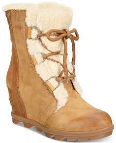 0725a2416e2 Sorel Women s Joan of Arctic Wedge II Waterproof Booties - Boots - Shoes -  Macy s Joan