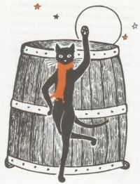 Jenny Linsky dancing the hornpipe from Jenny and the Cat Club, by Esther Averill