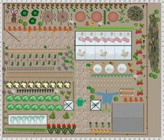 Garden Plan inspired by Beatrix Potter, the tale of Peter Rabbit.