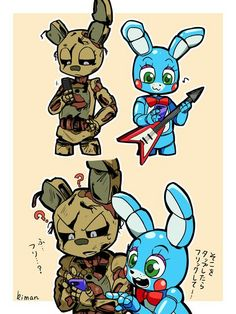 Spingy and toy bonnie