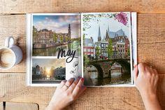 best-city-trip-photo-book-ever-design-assets Best Cities, Photo Book, Polaroid Film, Scrapbook, City, Books, A4, Design, Rice