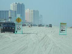 Driving beach at Daytona, Florida