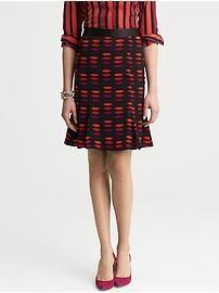 L'Wren Scott Collection Lip Print Wiggle Skirt