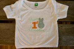 My first Easter embroidered shirt by ThrivingHearts on Etsy, $20.00