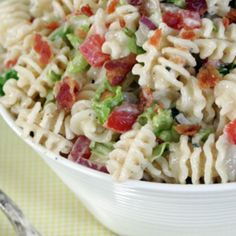 Ranch BLT Pasta Salad Recipe | Just A Pinch Recipes