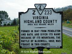 Highland County Z-233 | Marker History