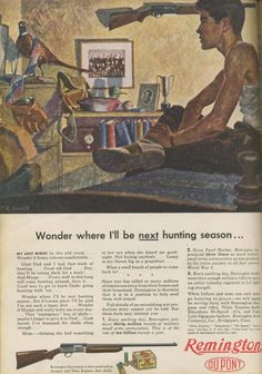 Remington shotgun ad.  Pretty real stuff even if it appears a bit innocent to us today.