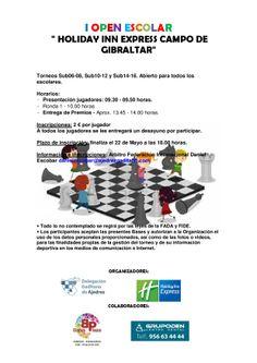 """I Festival de Ajedrez """"Holiday Inn Express Campo de Gibraltar"""" I OPEN ESCOLAR#ajedrez#torneo#hotel#holidayinnexpress"""